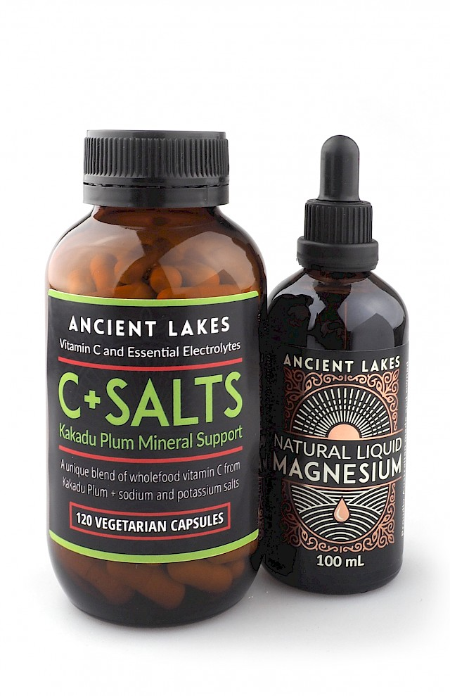 C + Salts Kakadu Plum Mineral Support Capsules Bundle