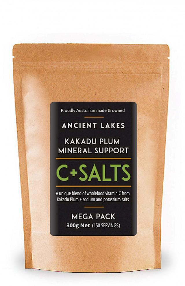 C+Salts Kakadu Plum Mineral Support Powder - 300g MEGA PACK